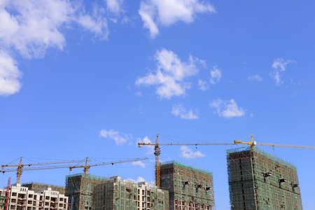 housing lot: Residential building is under construction