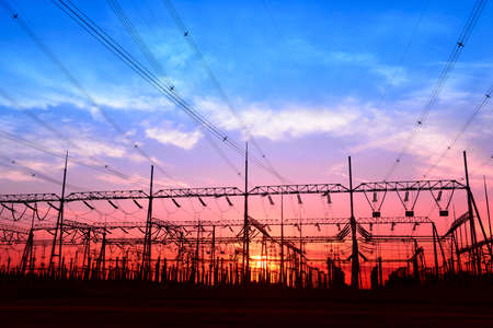 power grid: High voltage power grid, in the sunset