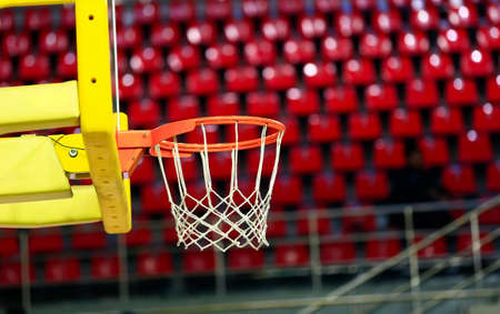 Closeup shot of the basketball basket