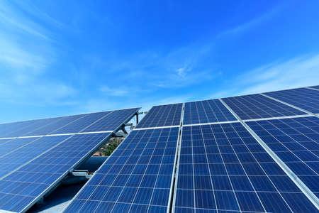 Solar power equipment under the blue sky