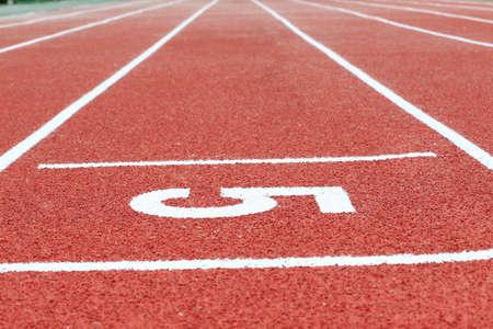 Numéro sur la piste de course
