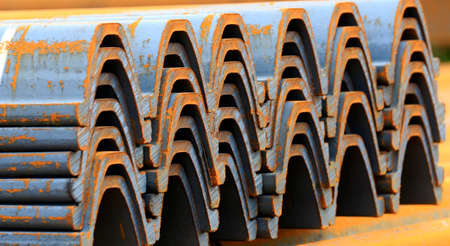 many steel is stacked together