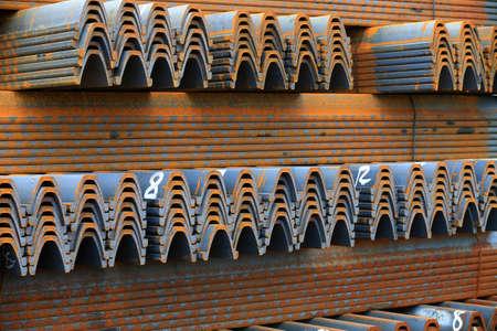a pile of steels Stock fotó