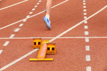 Sports meeting, the athlete sprint start