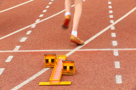 The boosters are on the runway,athlete begins sprint