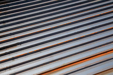 many triangular steel is put together