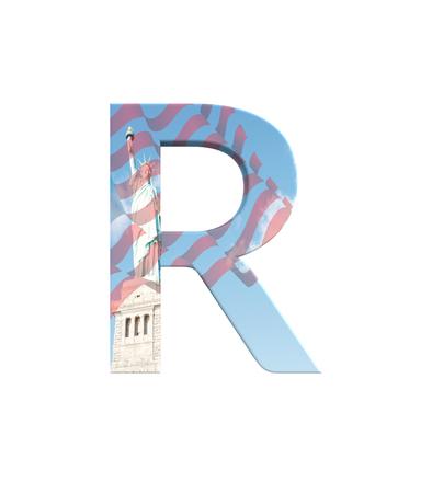 3D rendering Font New York City capital R Banco de Imagens