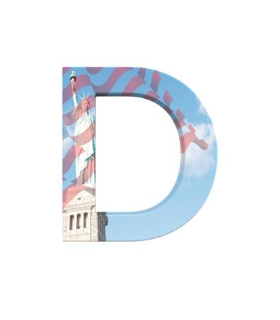 3D rendering Font New York City capital D Banco de Imagens