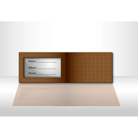 Brown wallet Illustration
