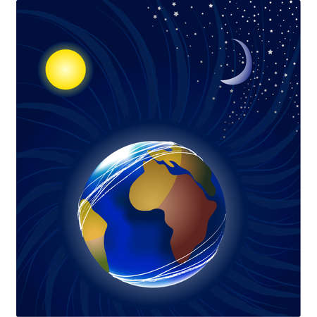 Moon, earth and sun Stock Vector - 16923118
