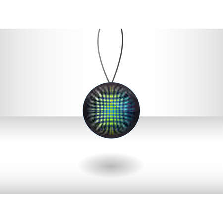 illustration with  green - blue ball Illustration