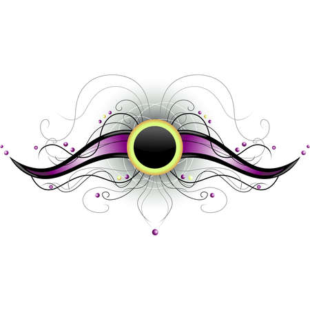Abstract black and violet shape Illustration