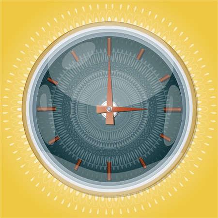 Clocks with pattern   Illustration 10 vertion Illustration
