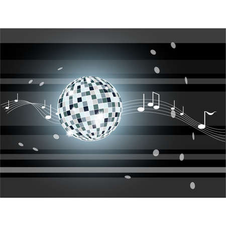 Vector illustration with mirror ball. Illustration 10 version Illustration