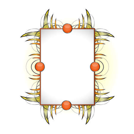 Abstract shape with frame.  Illustration 10 vertion
