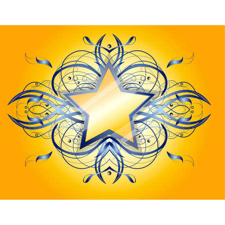 Abstract shape with star.  Illustration 10 version Illustration