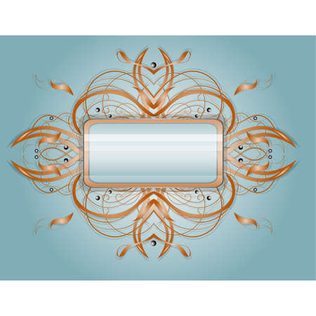 Abstract shape with rectangle.  Illustration 10 version Stock Vector - 17454167