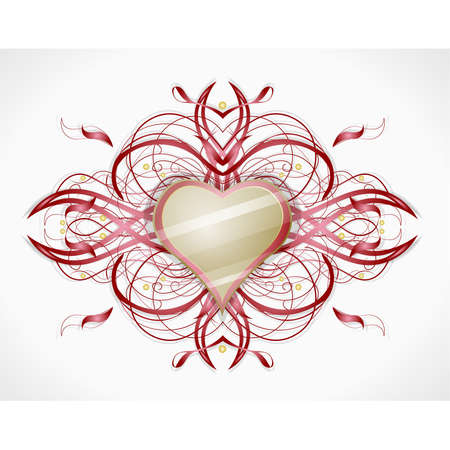 Valentines heart.   Stock Vector - 17479740