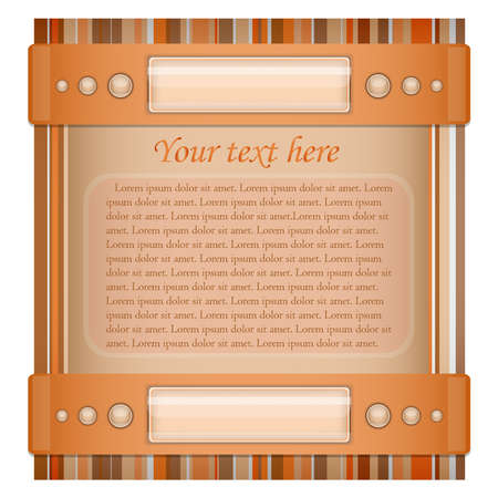 Orange - brown background with layout   Illustration 10 version Stock Vector - 17564534