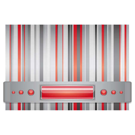 Gray - red background   Illustration 10 version Illustration