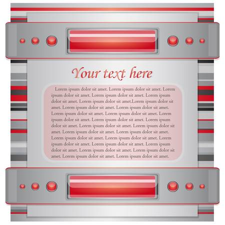 Gray - red background with layout   Illustration 10 version Vector