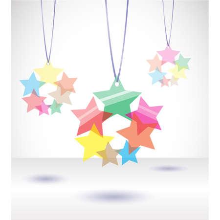 illustration with tranparent stars. Illustration 10 version Stock Vector - 17680779