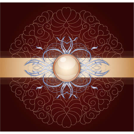 Retro background with ornament Stock Vector - 17695656