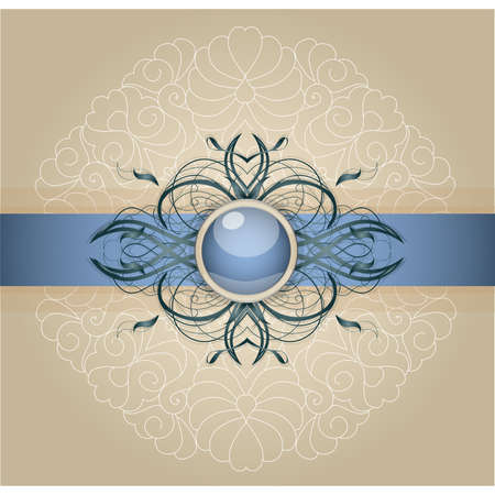 Retro background with ornament. Illustration 10 version Stock Vector - 17695658