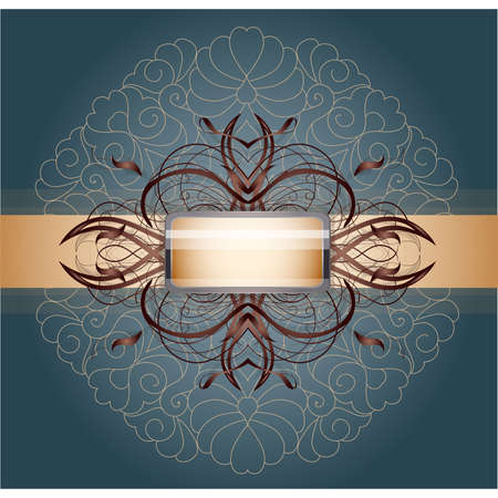 Retro background with ornament. Illustration 10 version Vector