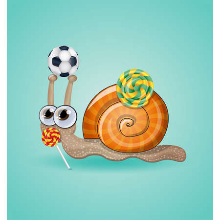 Isolated funny kid snail. Illustration 10 version Vector