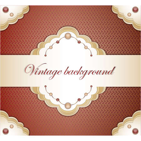 Vintage red background. Illustration 10 version