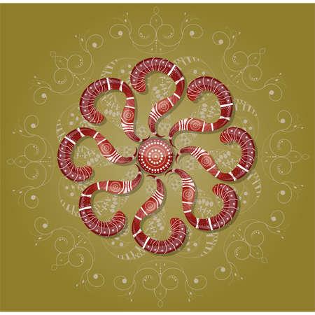 Brown ornament. Illustration 10 version Vector