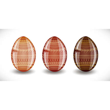 Set of easter eggs. Illustration 10 version Stock Vector - 18183460