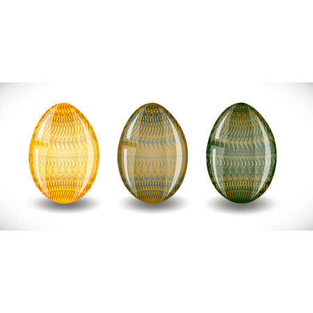 Set of easter eggs. Illustration 10 version