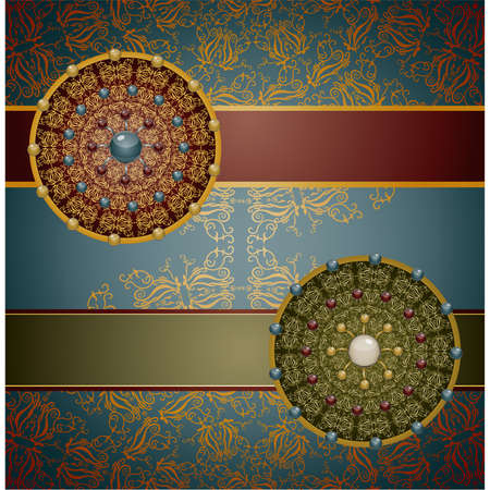 Retro background with ornament, Illustration 10 version Stock Vector - 18183465