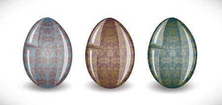 Set of easter eggs. Illustration 10 version Stock Vector - 18261558