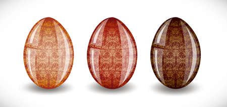 Set of easter eggs. Illustration 10 version Vector