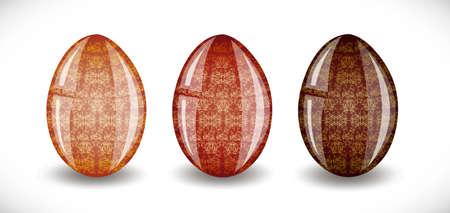 pasqua: Set of easter eggs. Illustration 10 version