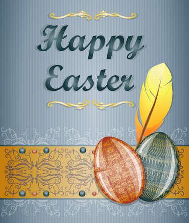 pasqua: Easter greeting card. Illustration 10 version
