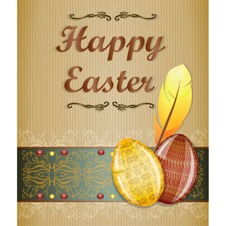Easter greeting card. Illustration 10 version Stock Vector - 18404711