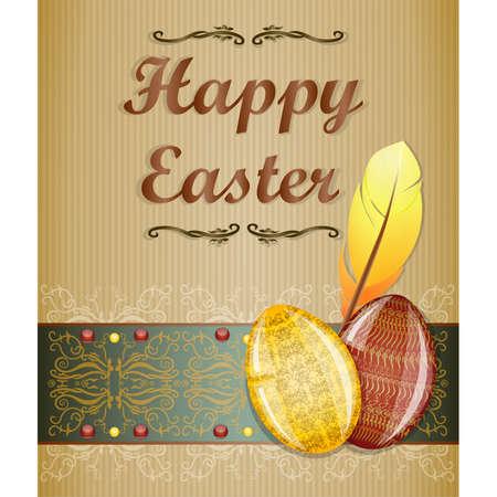 Easter greeting card. Illustration 10 version Stock Vector - 18404711