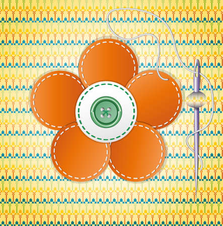 Colorful scrapbook with flower  Illustration 10 version Vector