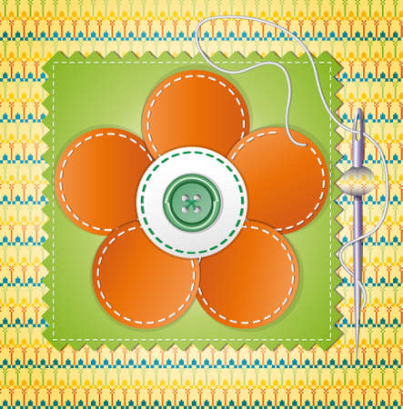 Colorful scrapbook with flower  Illustration Vector