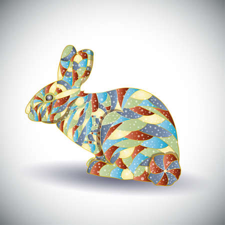 brown hare: Abstract colorful rabbit.Illustration 10 version Illustration