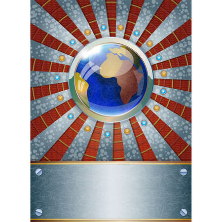 metalic background: Futuristic metalic background  Illustration 10 version