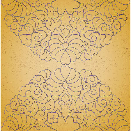gaudy: Vintage background with ornament Illustration