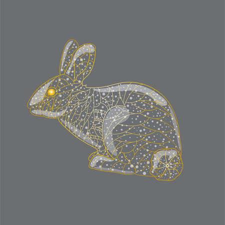 Abstract golden rabbit.
