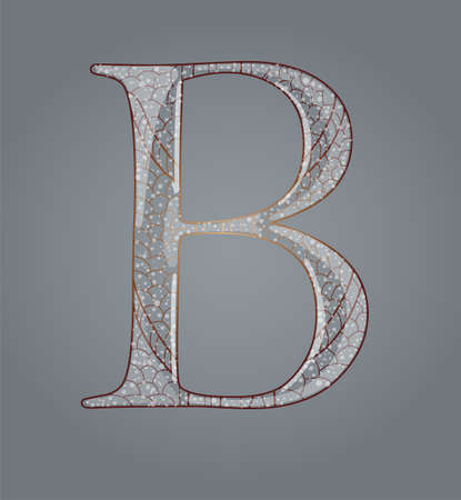 Abstract letter B. Illustration