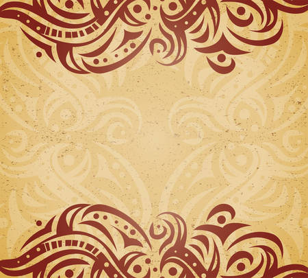 Vintage background with ornament Illustration