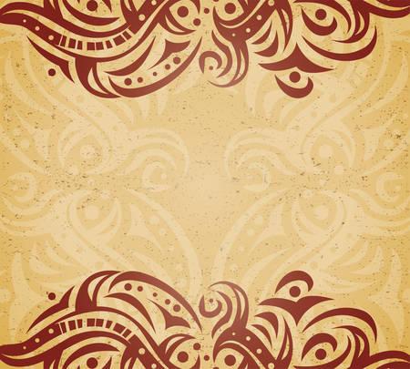 florid: Vintage background with ornament Illustration
